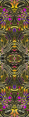 Abstract Rhythm - 28 Art Print by Hanza Turgul
