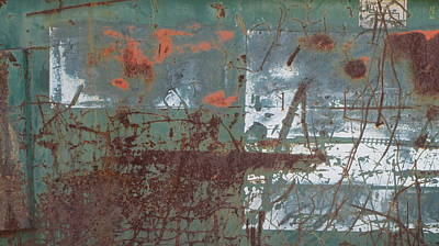 Photograph - Abstract Rust 5 by Anita Burgermeister
