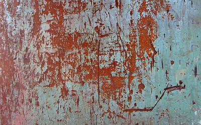 Photograph - Abstract Rust 6 by Anita Burgermeister