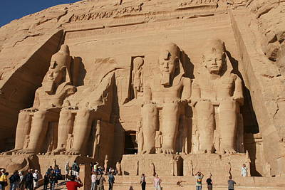 Photograph - Abu Simbel Temples by Christian Zesewitz