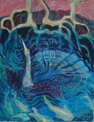 Anhinga Painting - Abundance by Rosemary Allen