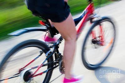 Exercise Photograph - Active Woman On A Bike by Michal Bednarek