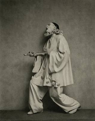 Actor Lionel Atwill In A Pierrot Costume Art Print by Nicholas Muray