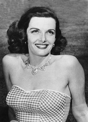 Movie Star Photograph - Actress Jane Russell by Underwood Archives