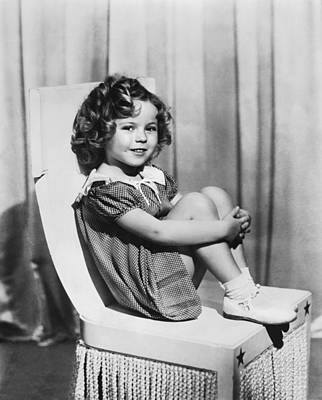 Black Curly Hair Photograph - Actress Shirley Temple by Underwood Archives