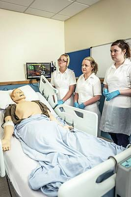 Practise Photograph - Acute Care And Resuscitation Training by Gustoimages