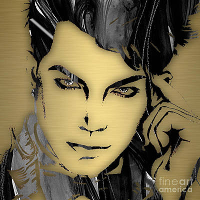 American Mixed Media - Adam Lambert Collection by Marvin Blaine