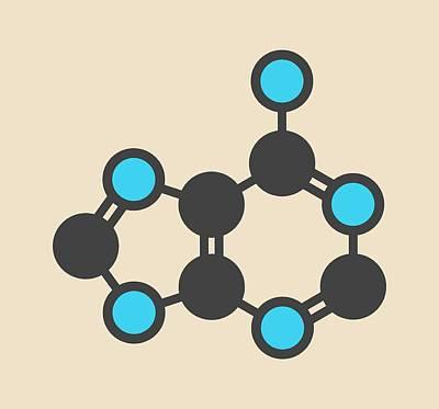 Adenine Purine Nucleobase Molecule Art Print