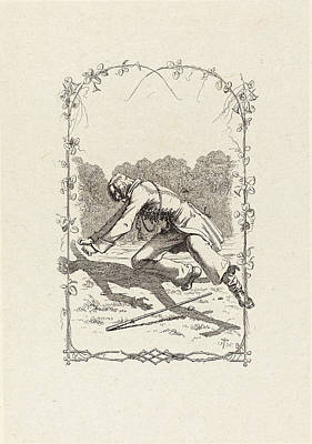 Adolf Drawing - Adolf Schrödter German, 1805 - 1875, Peter Schlemihl by Quint Lox