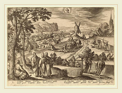 Virgo Drawing - Adriaen Collaert After Hans Bol Flemish by Litz Collection