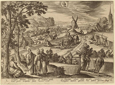 Virgo Drawing - Adriaen Collaert After Hans Bol Flemish by Quint Lox