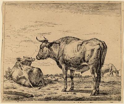 1636 Drawing - Adriaen Van De Velde Dutch, 1636 - 1672 by Quint Lox