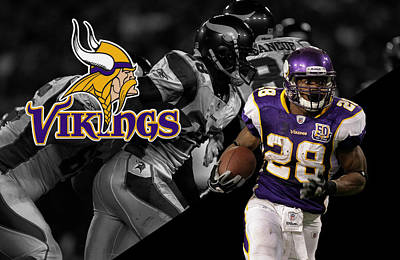 Adrian Peterson Vikings Art Print