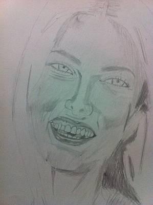 Drawing - Adriana Lima by Khoa Luu