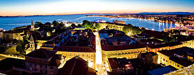 Photograph - Adriatic City Of Zadar Aerial Panorama by Brch Photography