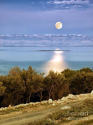 Adriatic Moon Print by Sinisa Botas