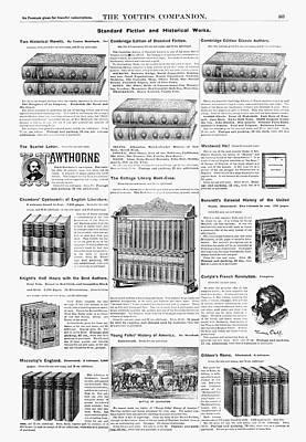 Advertisement Books, 1890 Art Print by Granger
