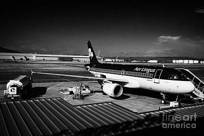 Best Irish Photograph - aer lingus airbus A319 Conlaed at George Best Belfast City Airport UK by Joe Fox