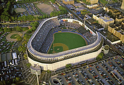 Aerial View Of A Baseball Stadium Art Print