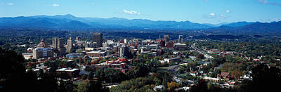 Asheville Photograph - Aerial View Of A City, Asheville by Panoramic Images