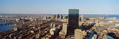 Aerial View Of A City, Boston, Suffolk Art Print