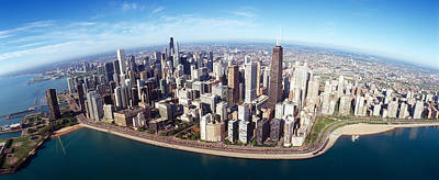 View. Chicago Photograph - Aerial View Of A City, Chicago, Cook by Panoramic Images