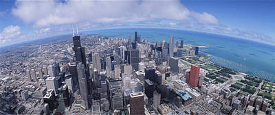 Aerial View Of A City, Chicago Print by Panoramic Images