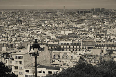 Aerial View Of A City Viewed Art Print by Panoramic Images