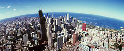 View. Chicago Photograph - Aerial View Of A Cityscape With Lake by Panoramic Images