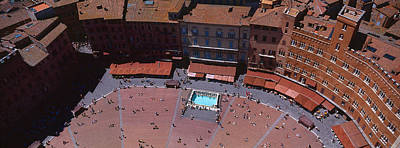 Aerial View Of A Town Square, Palazzo Print by Panoramic Images