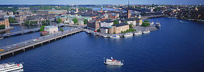 Aerial View Of An Island, Riddarholmen Art Print by Panoramic Images