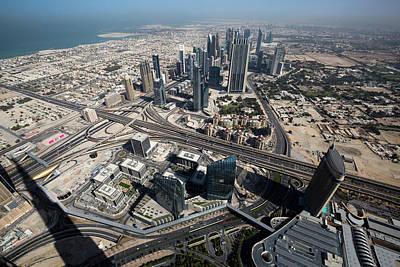 Photograph - Aerial View Of Business District Dubai by Xu Jian