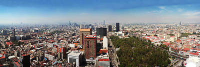Mexico City Photograph - Aerial View Of Cityscape, Mexico City by Panoramic Images