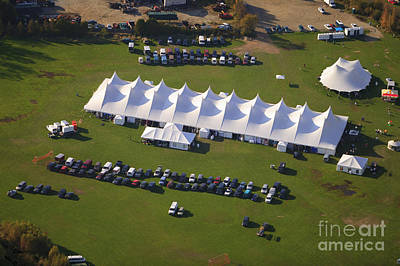 Photograph - Aerial View Of Event Tent In Vermont. by Don Landwehrle
