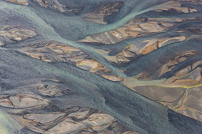 Sw Photograph - Aerial View Of Hosa River Colored by Peter Adams
