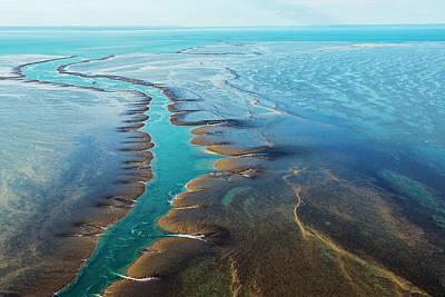 Aerial View Of Montgomery Reef Art Print by Laurenepbath
