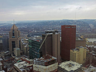 Pittsburgh Skyline Photograph - Aerial View Of Pittsburgh by Cityscape Photography