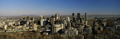 Montreal Places Photograph - Aerial View Of Skyscrapers In A City by Panoramic Images