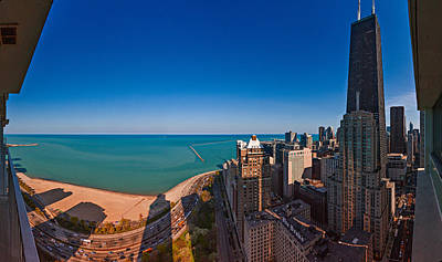 Aerial View Of The Lake Shore Drive Print by Panoramic Images