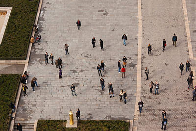Aerial View Of Tourists Viewed Art Print
