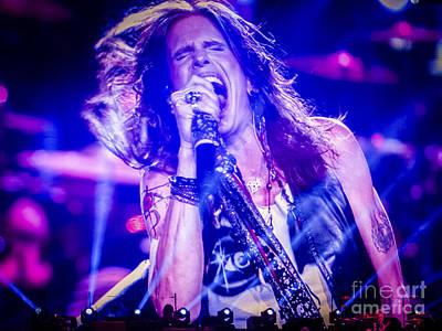 Aerosmith Photograph - Aerosmith Steven Tyler Singing In Concert by Jani Bryson
