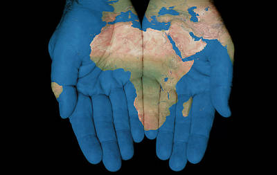 Africa In Our Hands Art Print
