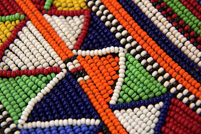 Beadwork Photograph - Africa, Kenya Maasai Tribal Beads by Kymri Wilt