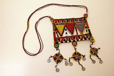 Beadwork Photograph - Africa, Kenya Maasai Tribal Beadwork by Kymri Wilt