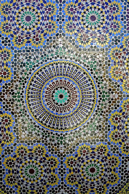 Mosaic Photograph - Africa, Morocco, Fes by Kymri Wilt