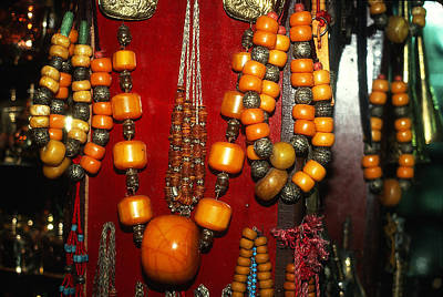 Kim Fearheiley Photography Royalty Free Images - African Amber Beads Royalty-Free Image by Carl Purcell