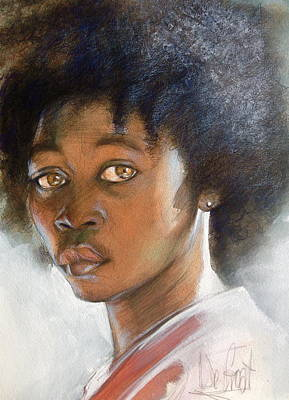 Painting - African American Boy by Gregory DeGroat