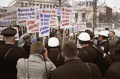 Discrimination Photograph - African American Demonstrators by Stocktrek Images