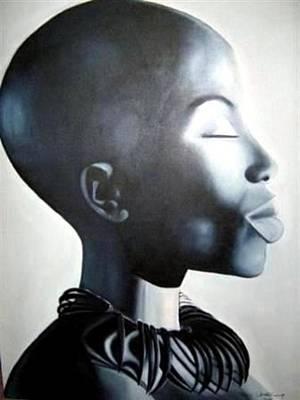 African Elegance - Original Artwork Art Print