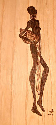 Pyrography On Wood Pyrography - African Motif by Art  Pyrography